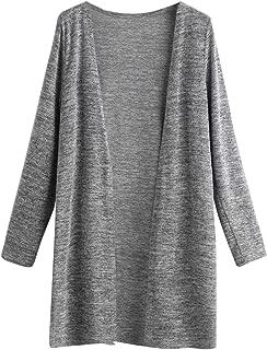 Women's Long Sleeve Open Front Knitted Sweater Trech Cardigan Coat Outwear