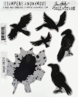 "Tim Holtz Cling Stamps 7""X8.5"" - Ravens (Pack of 1)"