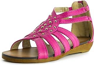 d403acb8a17a Link Girls Zipper Closure Gladiator Sandals (Toddler Little Kid Big Kid)