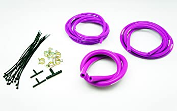 Autobahn88 Engine Room Silicone Vacuum Hose Dress Up DIY Kit, Fit All Models of BMW (Purple)