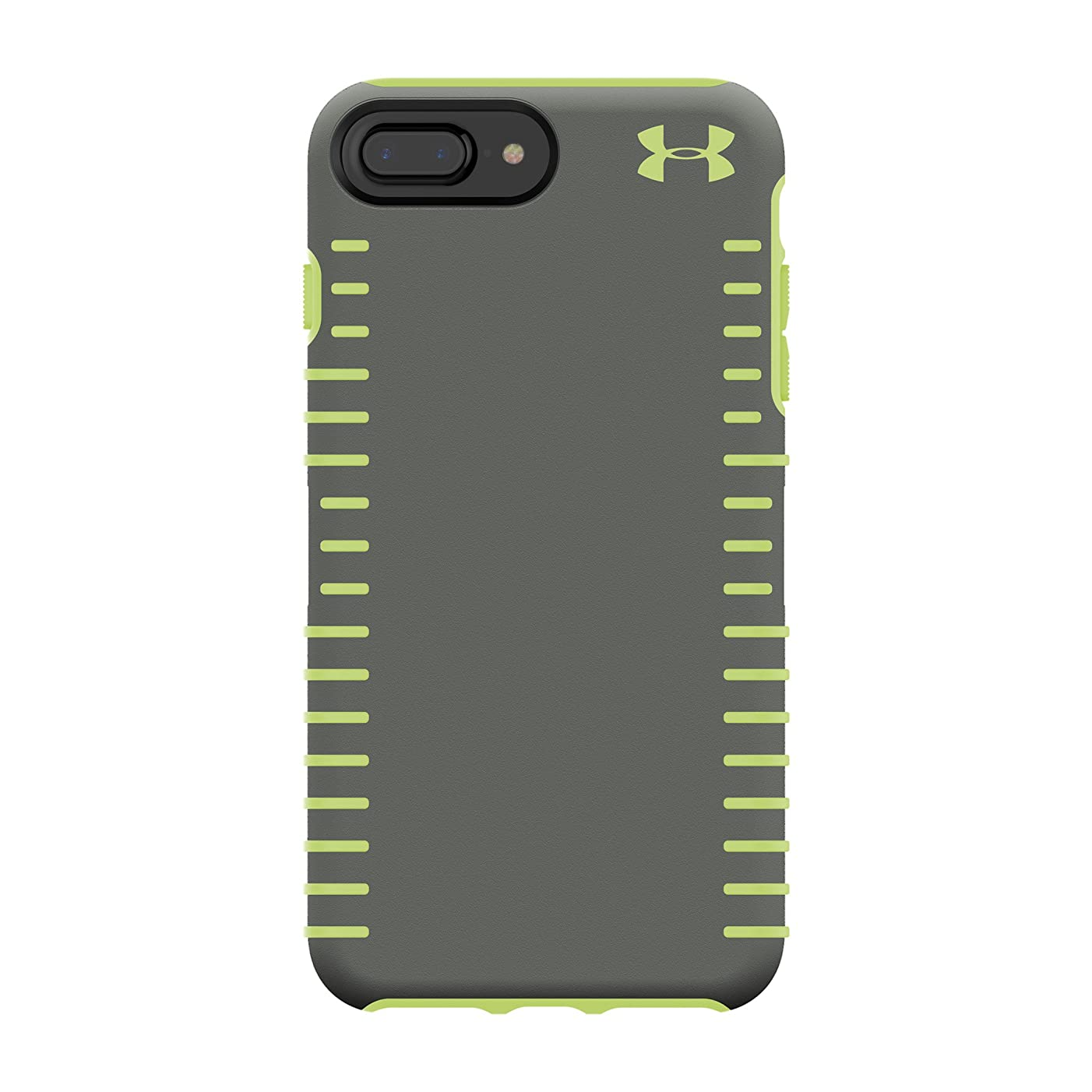 Under Armour UA Protect Grip Case for iPhone 8 Plus - Also Compatible with iPhone 7 Plus, iPhone 6+/6s+ - Graphite/Quirky Lime
