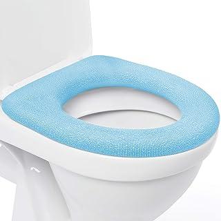 Toilettensitzabdeckung – Superwarmes Fleece – Metall Sicherungsscheibe –..