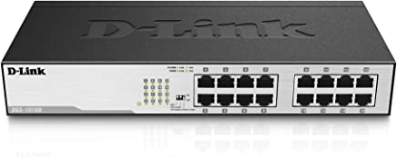 D-Link 16-Port 10/100/1000 Rackmountable Switch No administrado - Switch de Red (Unmanaged Network Switch, 8000 entradas, 32 Gbit/s, 1 Gbit/s, CSA + NRTL/C, 0.340 MB)