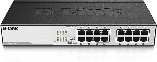D-Link 16-Port Gigabit Unmanaged Desktop or Rackmount Switch (DGS-1016D)