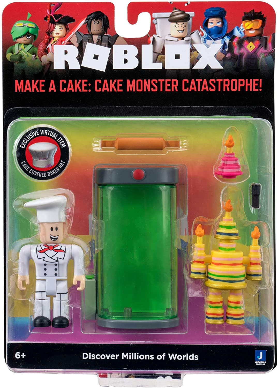 Roblox Action Collection - Make a Cake: Cake Monster Catastrophe! Game Pack...