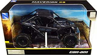 New-Ray 58193B New-Ray-58193B-1:18 Scale Toy CAN-AM Maverick X3 X Turbo Black