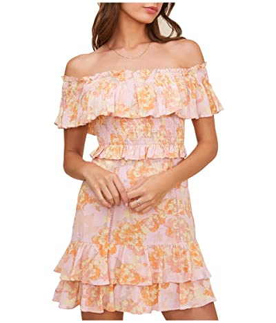 ASTR the Label Riviera Dress (Pink Papaya Floral) Women