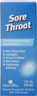 NatraBio Sore Throat Relief, 1 FL Oz
