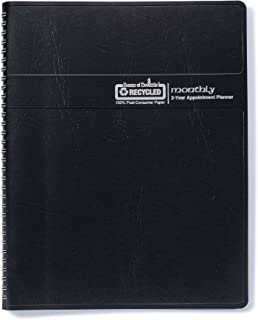 House of Doolittle 2020-2021 Two Year Calendar Planner, Monthly, Black Cover, 8.5 x 11 Inches, January - December (HOD262002-20)