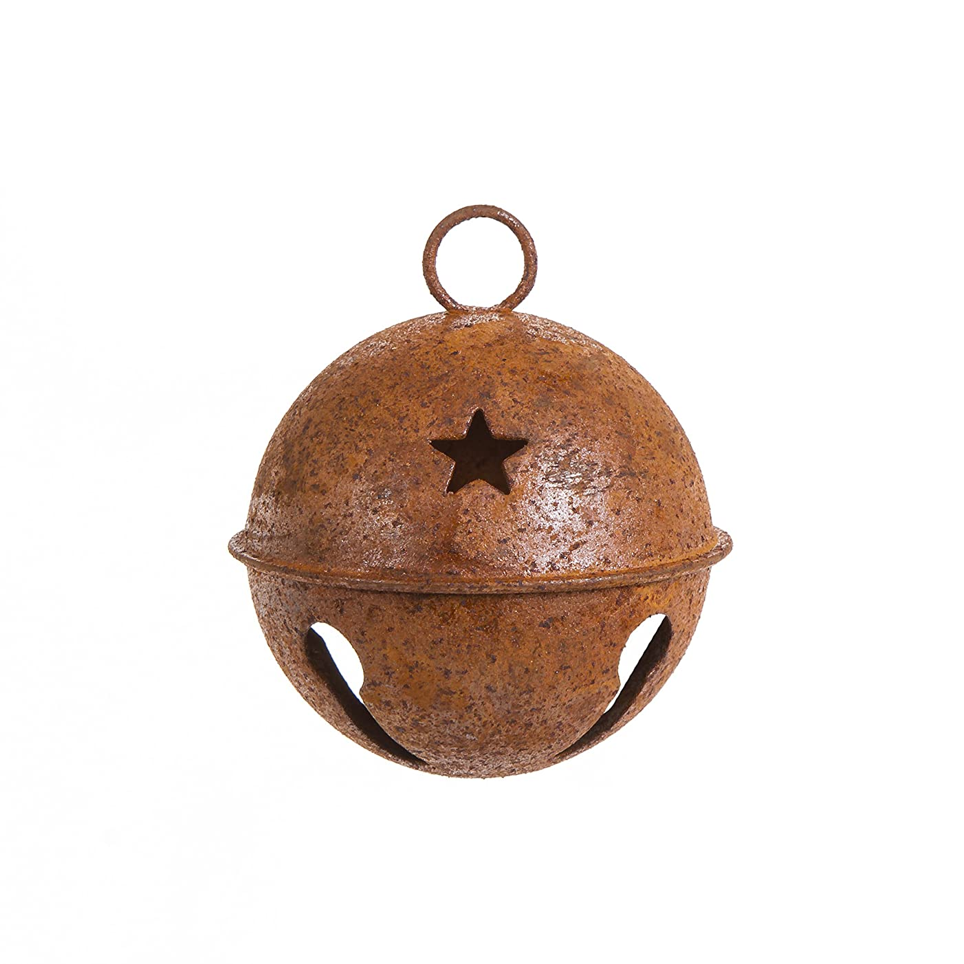 Holiday Rusty Bell With Star Cutouts - 65mm (1 Bell)