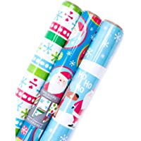 3-Pack Hallmark Reversible Christmas Wrapping Paper Bundle