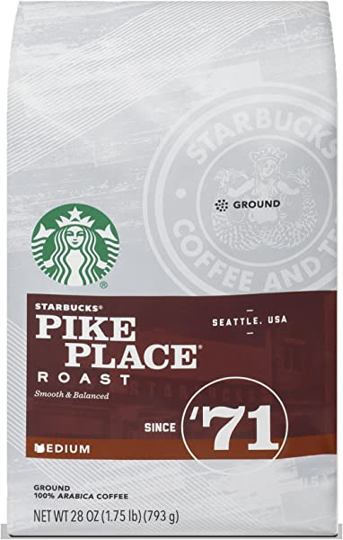 Starbucks Pike Place Roast Medium Roast Ground Coffee 28 Ounce Bag