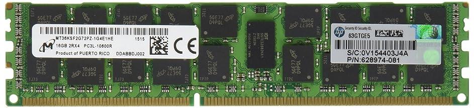 仮説脱走アンドリューハリディHP 16GB (116GB) 2RX4 PC3L-10600R DDR3-1333MHZ メモリー 627812-B21 サーバーメモリ (認定整備済み)