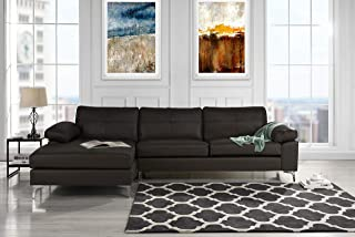 Best black leather couch sectional Reviews