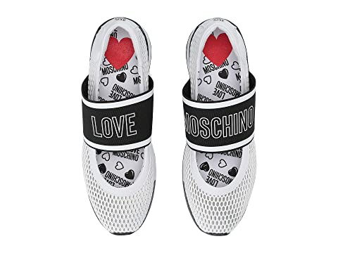 LOVE Moschino Mesh Sneaker with Elastic Logo