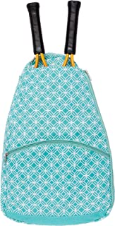 Tennis Racket Backpack - Women's Tennis Racquet Holder Bag by Lish (Teal)