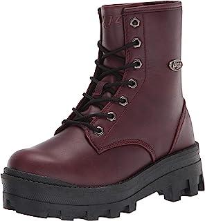 Lugz Women's Dutch Classic 6-inch Chukka Fashion Boot, Wine/Black, 6, M