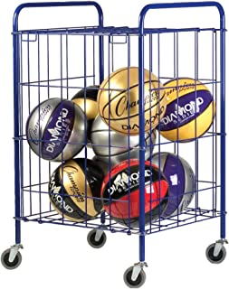 Champion Sports Portable Ball and Sports Equpment Storage Cart Locker with Lockable Hinge Cover - Available in Full and Ha...