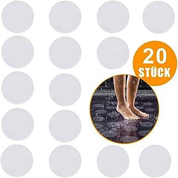 Antirutschmatte Badewanne Anti Rutsch Badewanne rutschfest Sticker Set mit Kunststoffschaber Antirutschmatte Dusche Rund x 30 O-Kinee 30 ST/ÜCK Premium Antirutsch Aufkleber