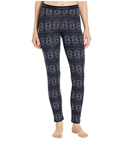 Icebreaker 250 Vertex Merino Leggings Crystalline (Midnight Navy) Women