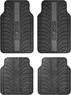 SPARCO Universal Car Mat, SPC1913GR, Black/Grey