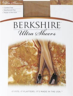 Berkshire Women's Ultra Sheer Control Top Pantyhose 4419 - Reinforced Toe