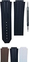 18x26mm Rubber Watch Band Strap for Big Bang Tires Style - Free Spring Bar Tool