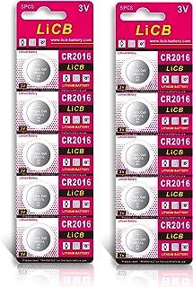 LiCB 10個入 CR2016 リチウム ボタン 電池 3V 2016 コイン形電池 水銀ゼロシリーズ