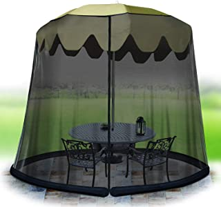 Jobar International 11' Umbrella Table Screen -BLK