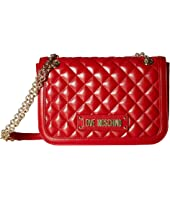 LOVE Moschino - Shinny Quilted Shoulder Bag