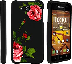 MINITURTLE Compatible with Kyocera Hydro Wave C6740, Kyocera Hydro Air Slim Fit Snap On Cover w/Unique, Customized Design Affectionate Flowers