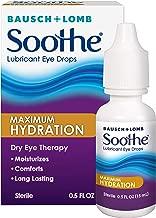 Bausch + Lomb Soothe Dry Eye Drops, Maximum Hydration Lubricant Eye Drops, 15 ml, 0.50 Fluid Ounce