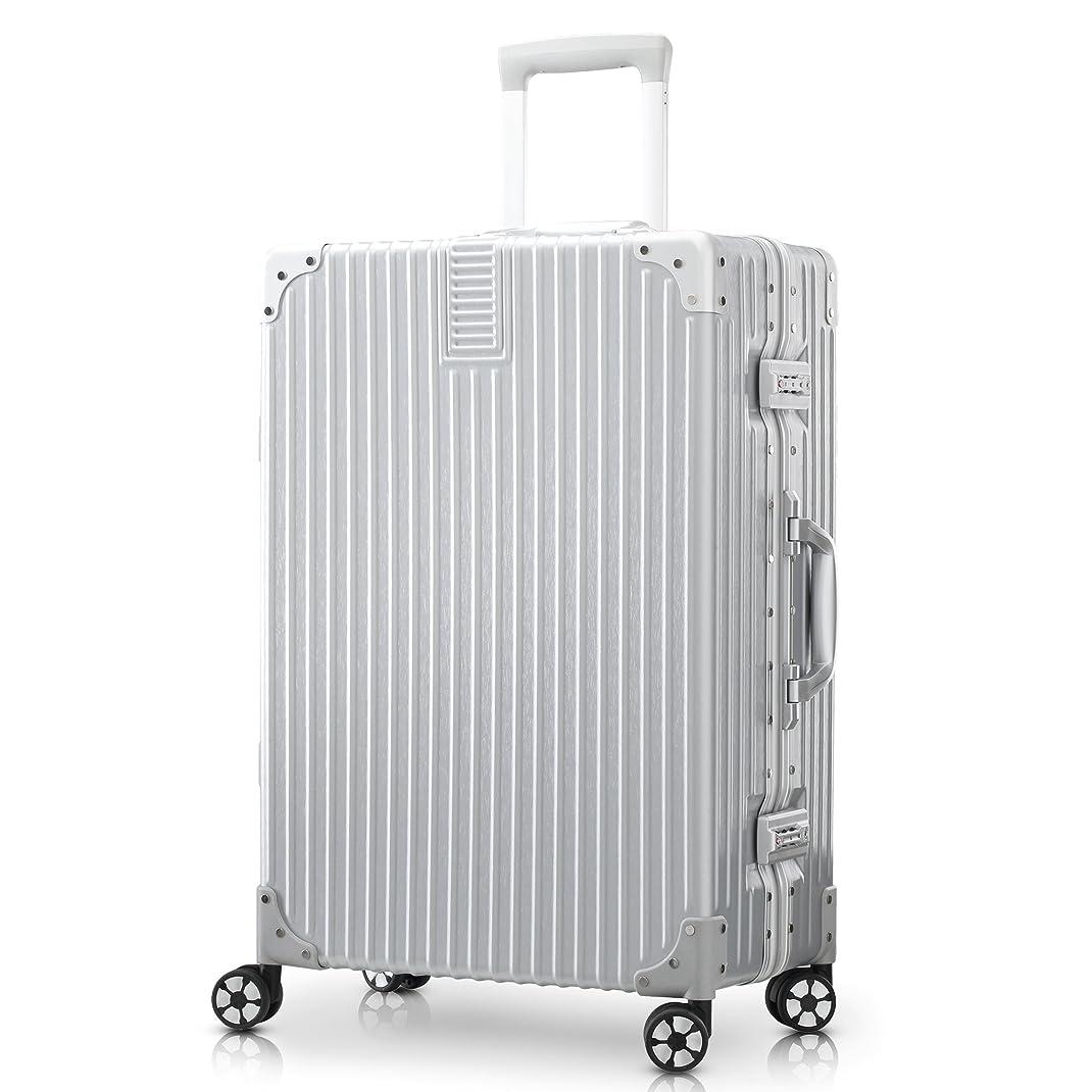 苦味同情返済TABITORA(タビトラ) スーツケース キャリーケース アルミフレーム 大型 機内持込 レトロ 四角 静音 TSAロック 傷が目たちにくい 【安心一年】(2色5サイズ対応)