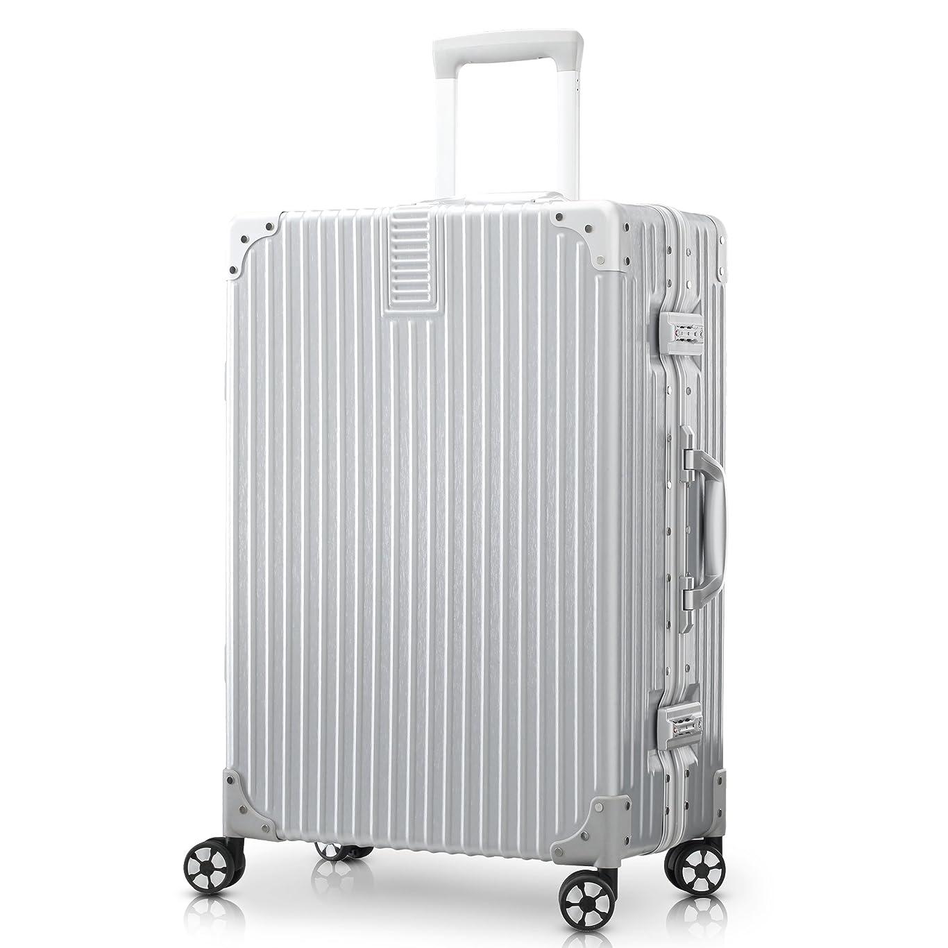 盆地パリティ芝生TABITORA(タビトラ) スーツケース キャリーケース アルミフレーム 大型 機内持込 レトロ 四角 静音 TSAロック 傷が目たちにくい 【安心一年】(2色5サイズ対応)