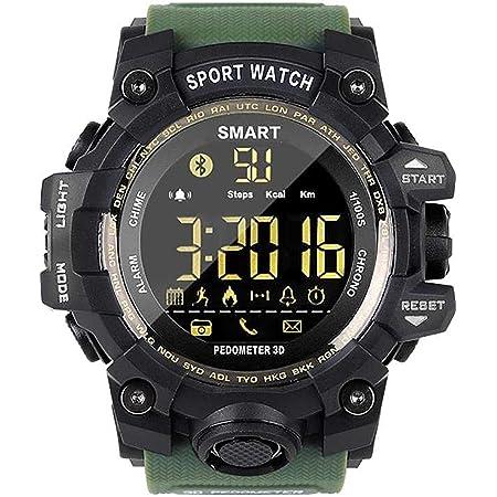 Topsale-ycld EX16 Time Owner Reloj Bluetooth Reloj Inteligente Notificación Control Remoto Podómetro Reloj Deportivo IP67 Reloj Impermeable para ...