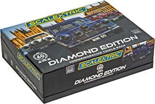 Scalextric Morris Mini Cooper Commemorative Diamond Edition Pack 1: 32 Slot Race Cars C4030A, Red/White/Blue