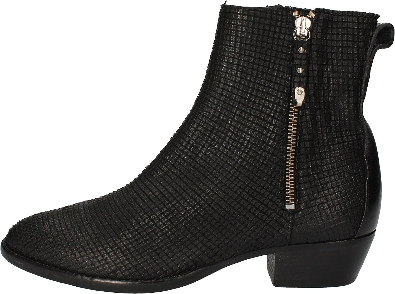 MOMA Boots Womens Snakeskin Black