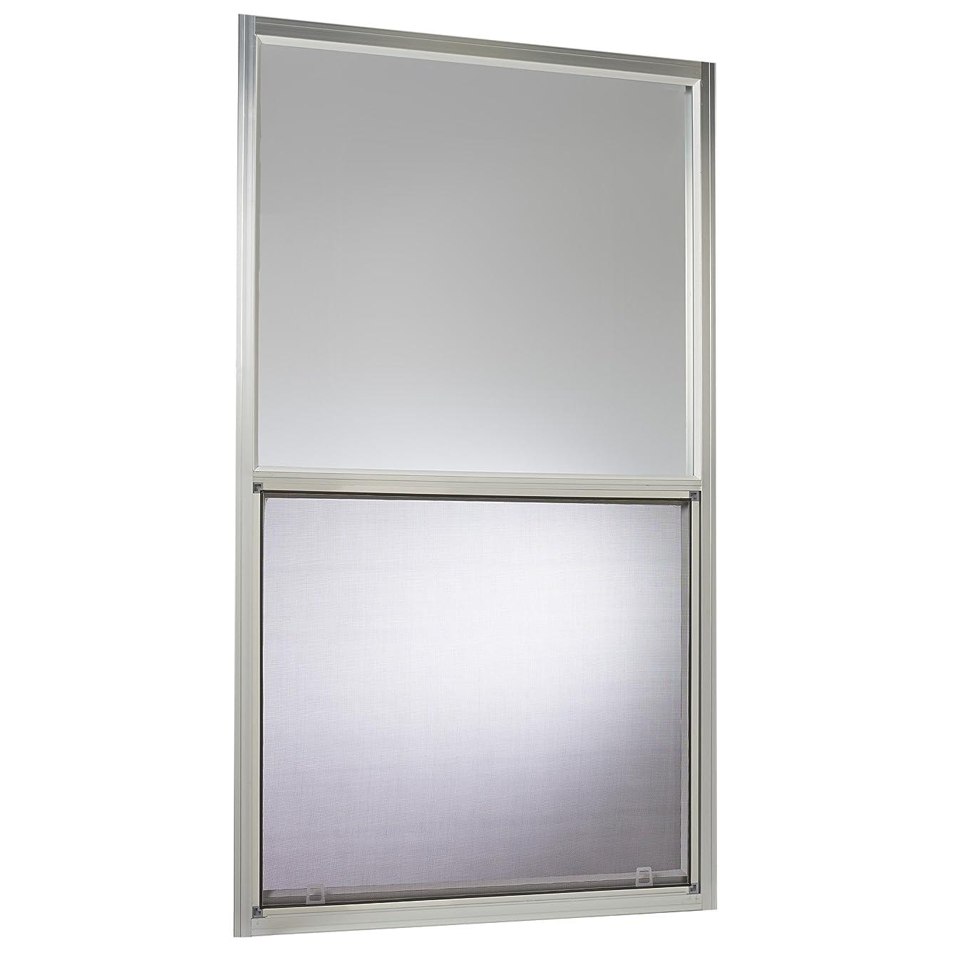 Park Ridge Products AMHMF3054PR Park Ridge Mill Finish 30 in. x 54 in. Aluminum Mobile Home Single Hung Window – Silver,