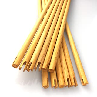 Flee 31.5'' Wood Arrow shafts 5/16 Archery DIY Handmade Arrows Bare Raw Shafts Spine 35-65# for Traditional & Recurve Bow Longbow,24pcs