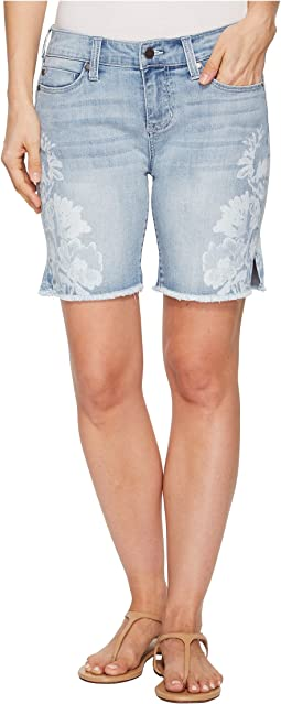 Corine Shorts Fray Hem w/ Slit in Vintage Super Comfort Stretch Denim in Mandalay Light