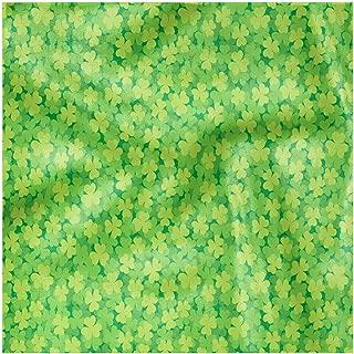 Ambesonne Clover Cloth Napkin Set of 4, Luck Shamrocks, 18