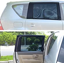 TFY Universal Car Rear Side-Door Square-Window Sunshades - for Vehicles with Side Windows 31.5Inch - 47Inch W x 23Inch H (Large Rectengular Window)