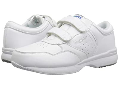 Propet Life Walker Strap Medicare/HCPCS Code = A5500 Diabetic Shoe (White) Men