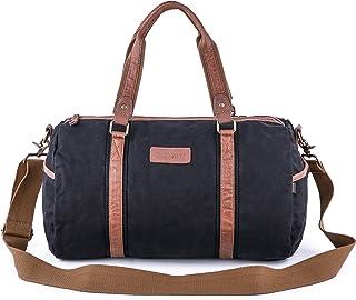 Gootium Duffel Bag - Canvas Travel Duffle Weekender Shoulder Bags Gym Tote, 28L, Black