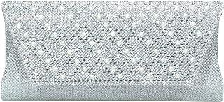 Evening Bags Clutches for women Satin Wedding Purse Silver Chain Strap Shoulder Bag Ladies Party Wallet Handbag