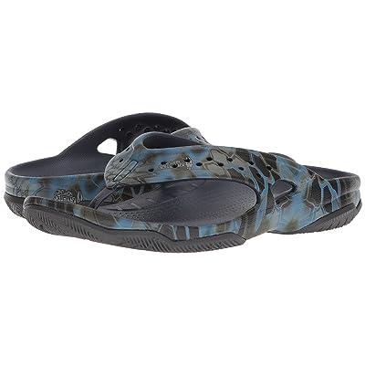 Crocs Swiftwater Kryptek Neptune Deck Flip (Navy) Men