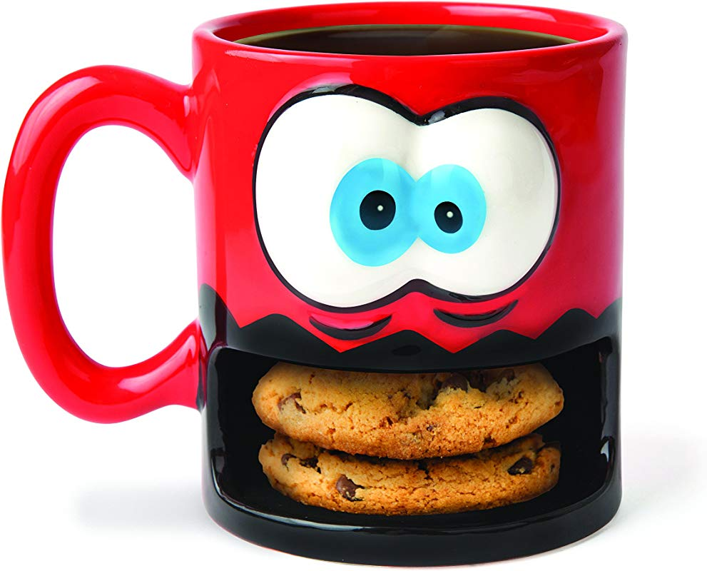 BigMouth Inc Crazy For Cookies Coffee Mug Milk And Cookies Holder Ceramic Cup For Coffee And Tea With Handle Funny Novelty Cup