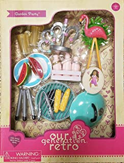 Our Generation Garden Party BBQ Accessory Set - Compatible with 18