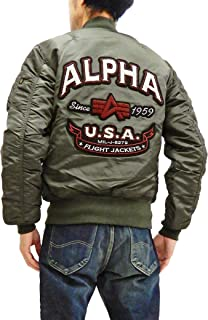 (アルファ) Alpha MA-1 フライトジャケット TA0112 サガラワッペン メンズ MA1 TA0112-276 RPグレー
