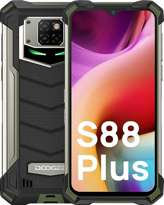 Smartphone doogee s88 plus robusto da 10000mah batteria smartphone 4g dual sim 8gb + 128gb B08SW9Z36F